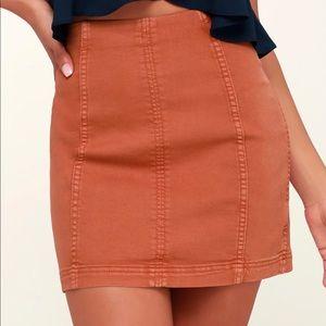 Free People Modern Femme Terracotta Skirt